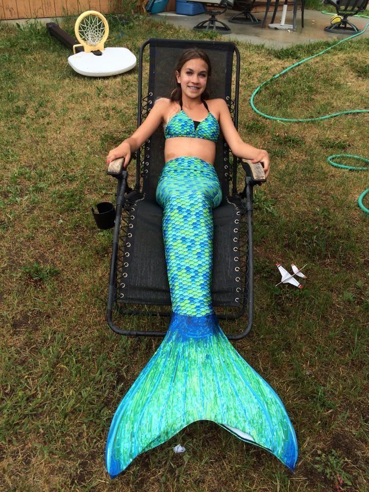 Aussie Green Mermaid Tail from Fin Fun Mermaid.
