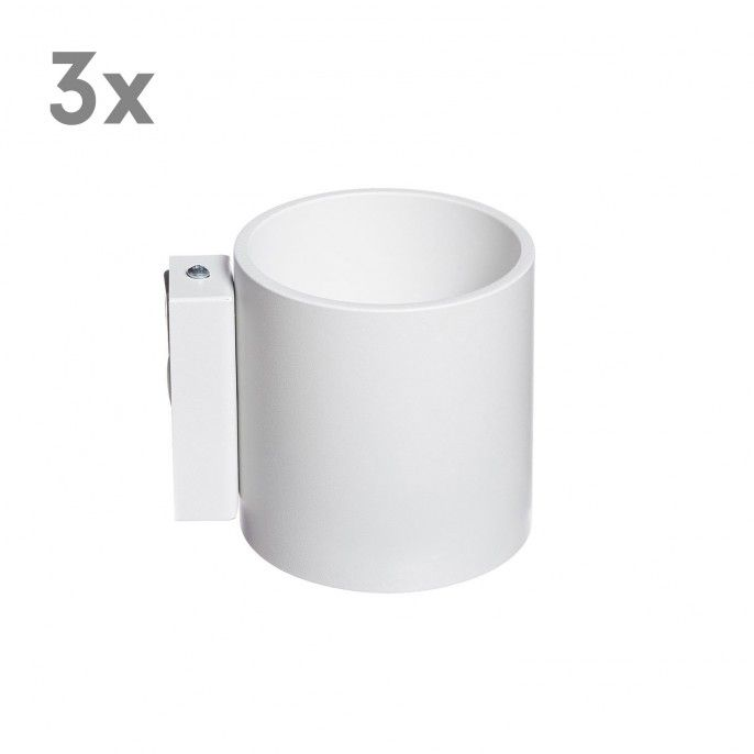 3x Roda Wandleuchte - Weiß