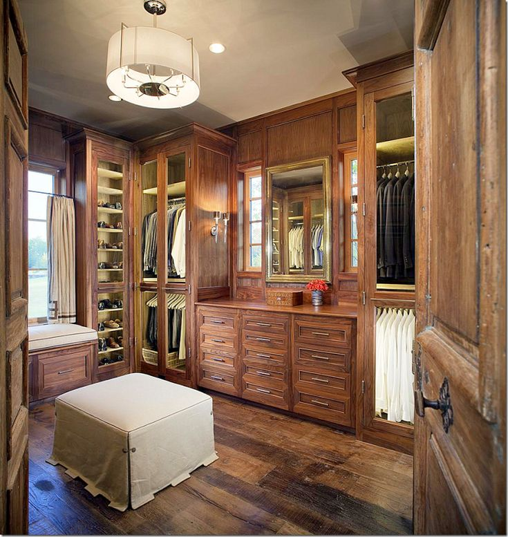 His Closet With Wood Floors And Built In Cabinetry Resembles A Fine Men 39 S Shop Love The Antique