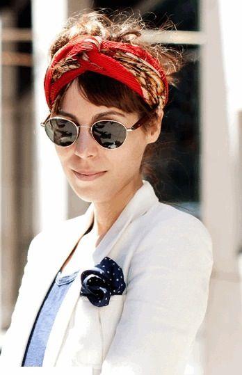 Turban Twist Styling for Short Haired Gals http://www.lovelysilks.com                                                                                                                                                                                 More