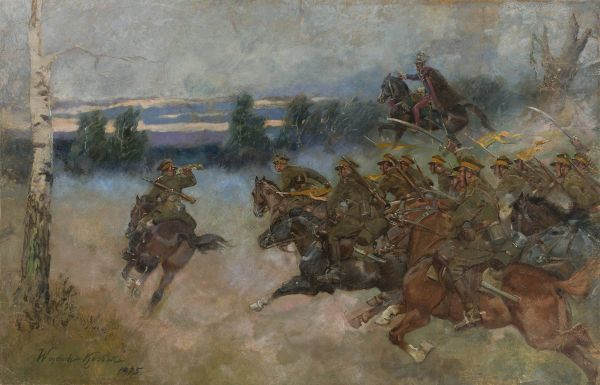 Szarża kawalerii - Wojciech Kossak