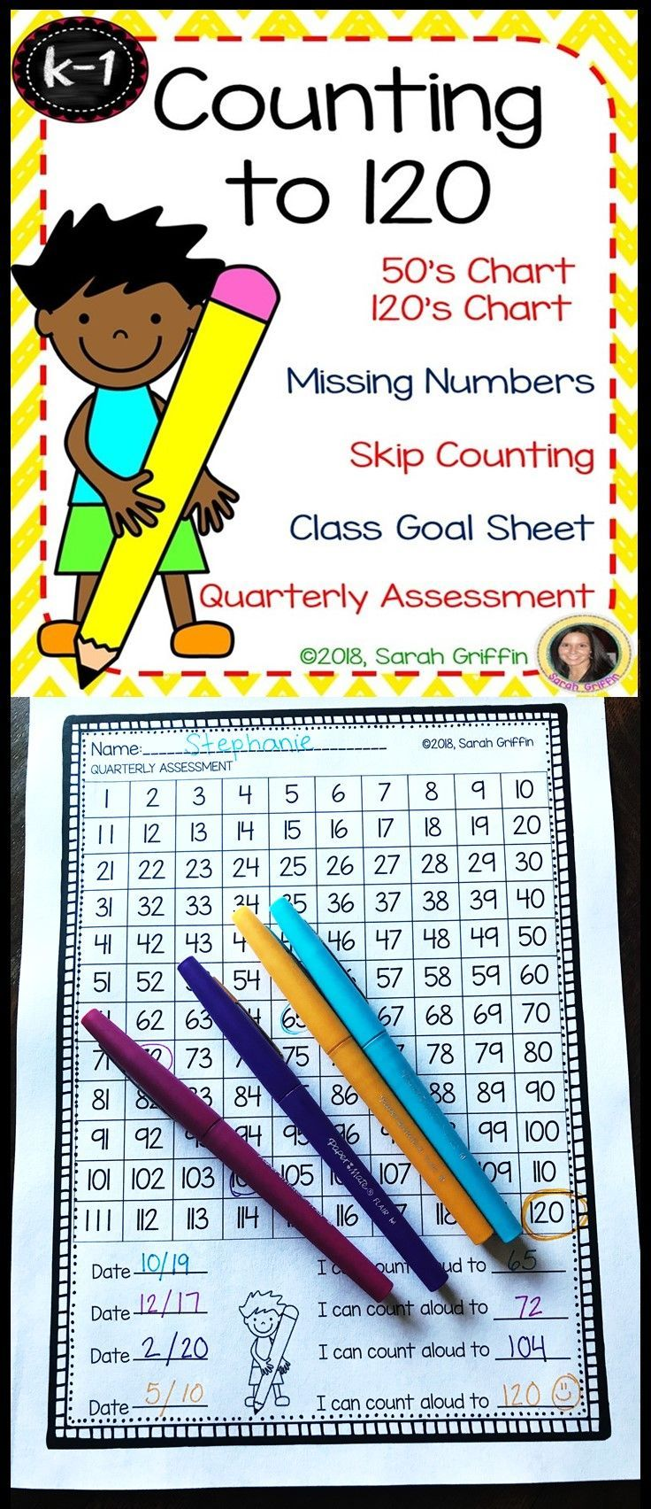 Counting To 120 Math Worksheets 120 Number Chart Tracing Numbers Missing Numbers Skip Countin Counting To 120 Kindergarten Skills Learning Worksheets [ 1704 x 736 Pixel ]