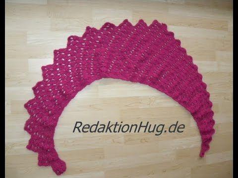 Häkeln - Schal Tuch Drachenschal Drachenschwanz - Veronika Hug - YouTube