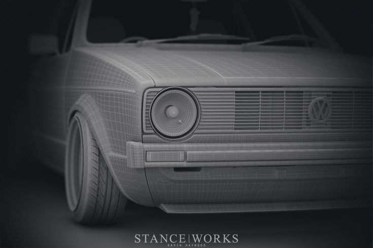 Accurate modded VW Golf MK1 Render