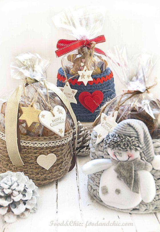 cestas de crochet para regalar