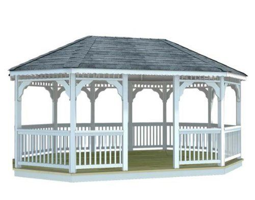 10' x 18' Vinyl Oval Gazebo by Fifthroom. $8099.00