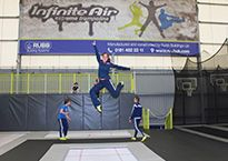 Olympic star Kat Driscoll at Infinite Air Trampoline Park