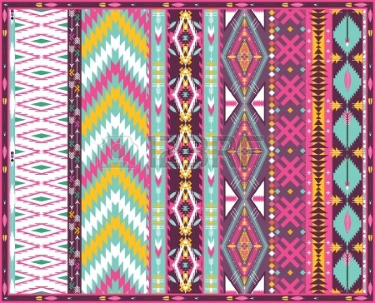 pin aztec colorful seamless - photo #14