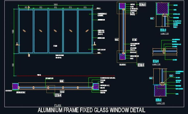Aluminium Frame Fixed Glass Window Design In 2020 Window