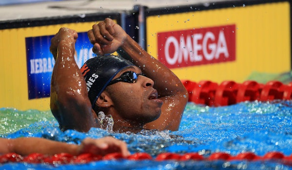 U.S. Olympic Swimming Trials — Cullen Jones- I watched him swim in high school and it was a sight to see