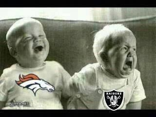 Broncos vs Raiders Crying Babies lol