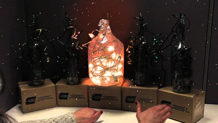 "Cary Company Christmas 2014 - ""Deck the Halls"" Wine bottle light show! #HappyHolidays"