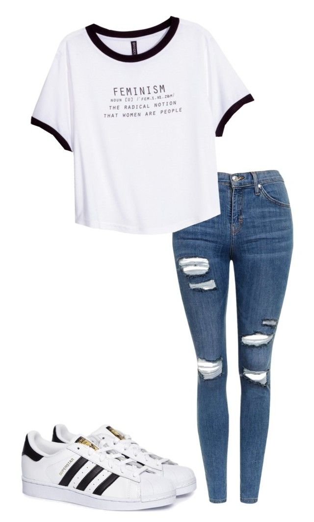 """""""since way back"""" by pri-pitu on Polyvore featuring Topshop, H&M and adidas"""