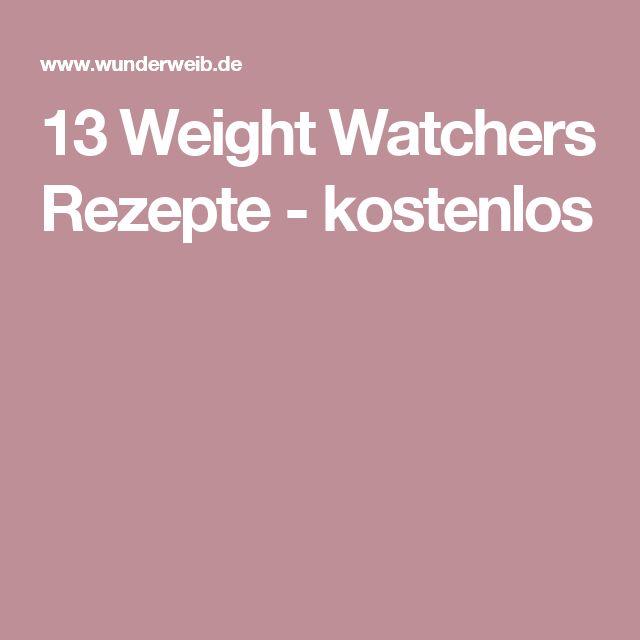 13 Weight Watchers Rezepte - kostenlos