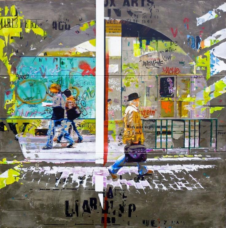 ARNAUD LIARD http://www.widewalls.ch/artist/arnaud-liard/ #contemporary #art #painting #streetart #urbanart #photography #graffiti