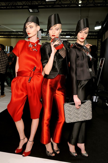 Backstage looks from the Giorgio Armani Privé Spring/Summer 2013 Collection