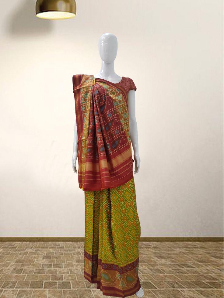 Rajkoti Patola Saree  For more details call/whatsapp-91-9377399299  #sankalpthebandhejshoppe #patola #rajkotipatola #designersaree