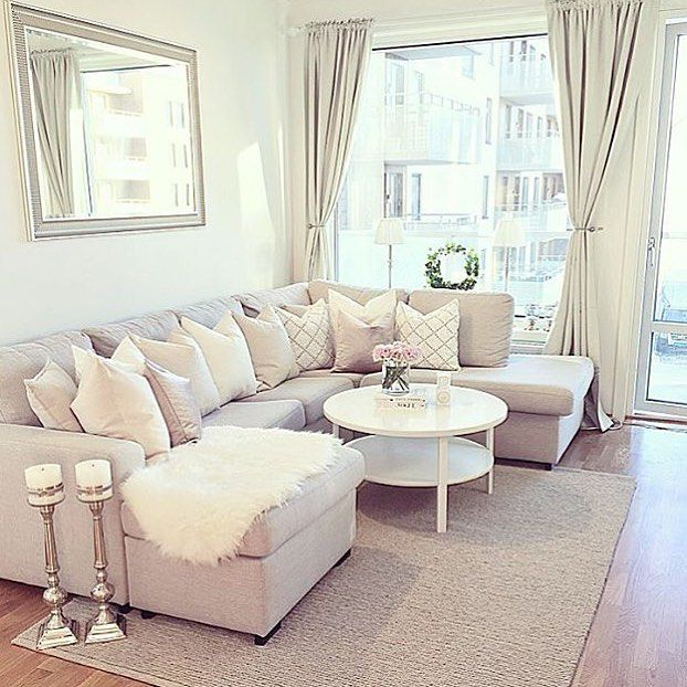 living room furniture apartment size modern neutral rooms cozy sets for apartments
