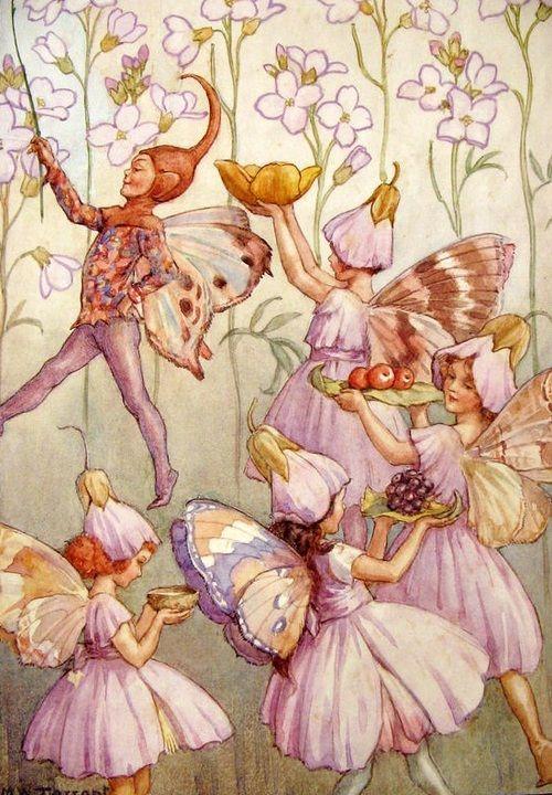 Elves Faeries Gnomes:  The #Faery Folk, Margaret Tarrant.