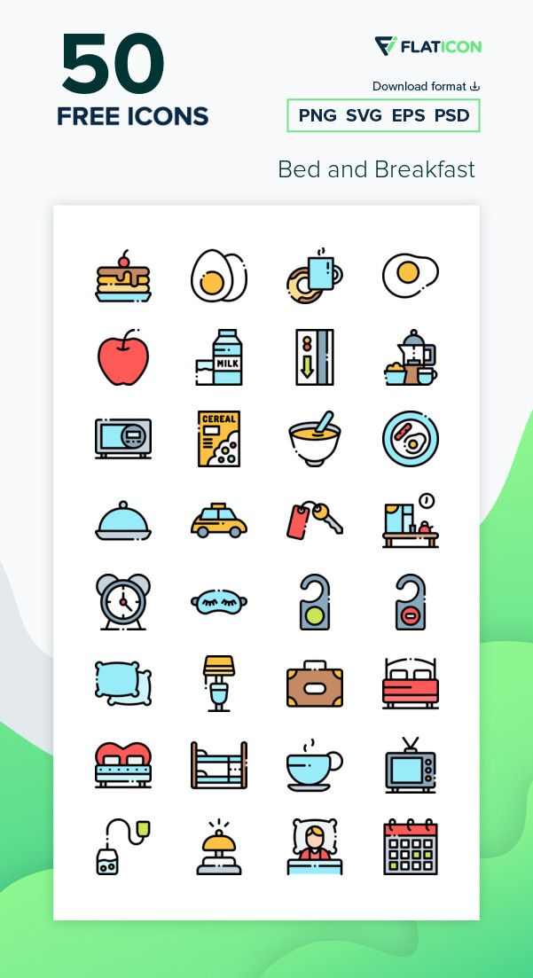 50 Free Vector Icons Of Bed And Breakfast Designed By Freepik Free Icon Packs Free Icons Png Icon Pack