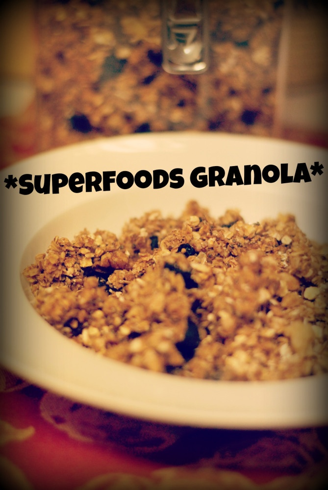 Superfoods Granola. I'm going to try making this