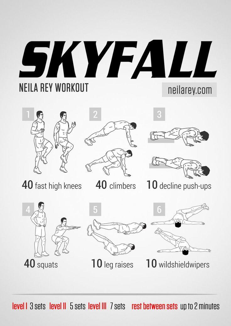 Skyfall Workout neilarey.com | #fitness #bodyweight