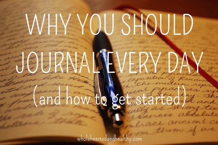 Why you should journal every day (and how to get started) | Wholehearted & Healthy