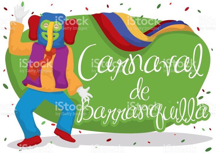 Festive Colombian Marimonda for Barranquilla's Carnival Celebration
