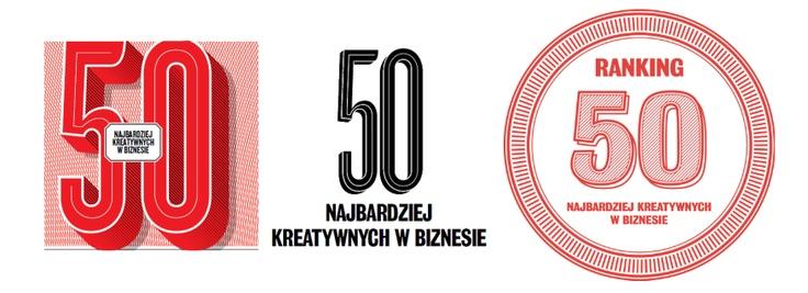 """W lutowym """"Briefie"""" prezentujemy 3. edycję naszego rankingu 50. najbardziej kreatywnych w biznesie. Które logo najbardziej Wam się podoba?"""