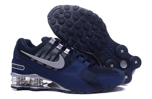 Top Quality Nike Shox NZ Dark Blue Silver Men's Athletic ...