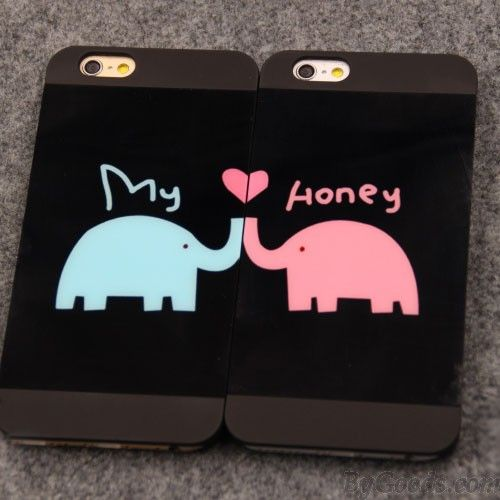 Lovely Animals Lover Elephants Couple Frosted IPhone 4/4s/5/5s/6/6p Cases only $12.99 in ByGoods.com!