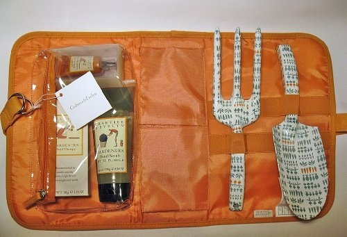 Crabtree & Evelyn 6-pc GARDENERS HAND CARE KIT, Hand Therapy Lotion, Pumice Hand Scrub, Nail & Cuticle Therapy, Garden Fork & Trowel and Tote Bag , http://www.amazon.ca/dp/B00AUFHDRS/ref=cm_sw_r_pi_dp_4k3trb1703E06