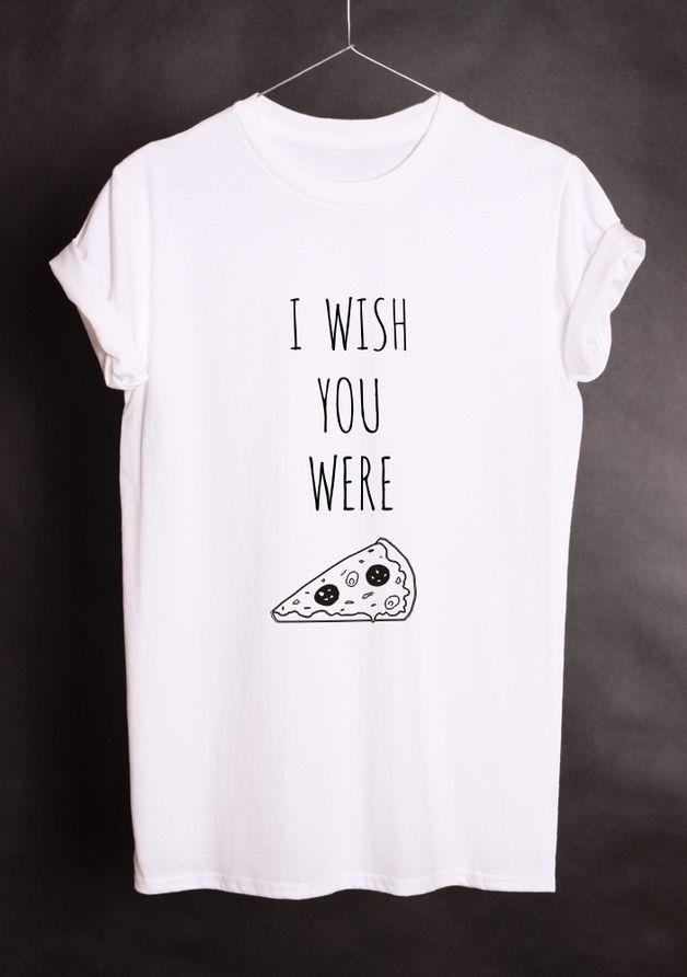 Camisetas con mensaje - Oversized Unisex Printed T-shirt PIZZA - LUKATEE - hecho a mano por Lukatee en DaWanda