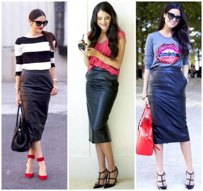 4421303b25e8 Leather Skirt You Can Wear to Work | Stylish | Black leather pencil skirt, Black  leather skirts, Skirt fashion