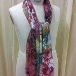 Hand dyed silk velvet burnout scarves - with (minimal) tutorial!