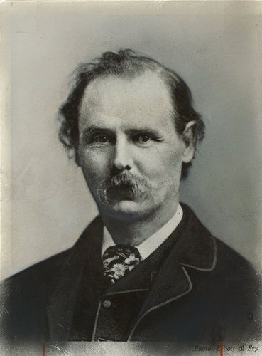 The English economist Alfred Marshall, in 1892.