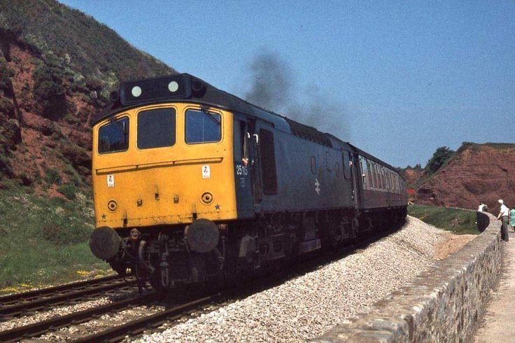 Class 25 Approaching Dawlish.