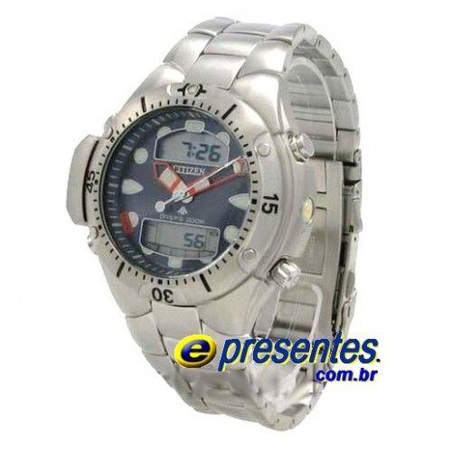 JP1060-52L Relógio Citizen Aqualand II Profundímetro e Alarmes