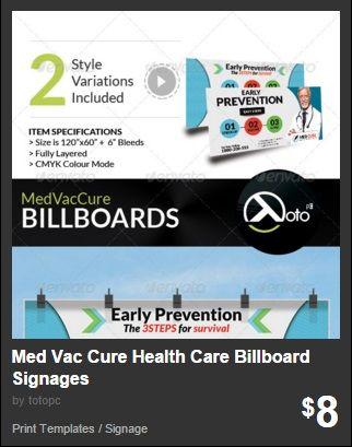 Med Vac Cure Health Care Billboard Signages