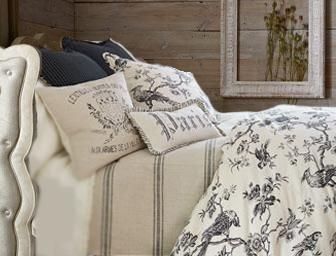 French Laundry Avalon Black Bird Toile