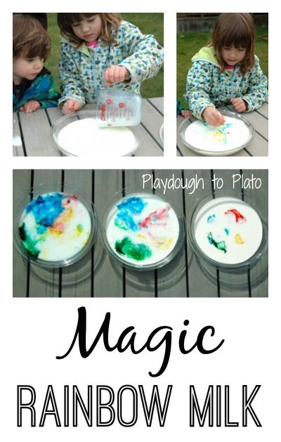 Perfect for St. Patrick's Day! Fun Kids' Science Experiment: Magic Rainbow Milk.