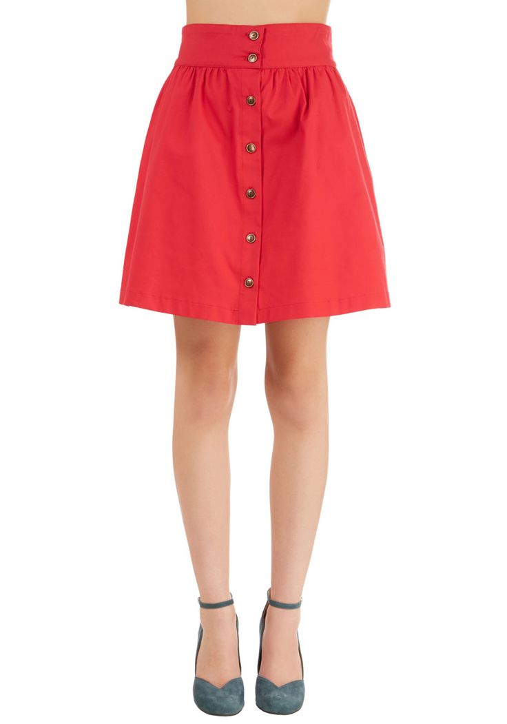 Curry Your Enthusiasm Skirt in Cayenne. This new colorway of one of your favorite ModCloth items was picked by you in our Be the Buyer Program! #red #modcloth