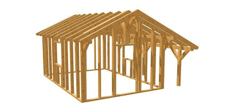 Gartenhaus günstig selber bauen! holzbauplan.de in 2020