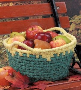 Collect the harvest in this fun coiled fabric basket, easy enough for a beginner to make.