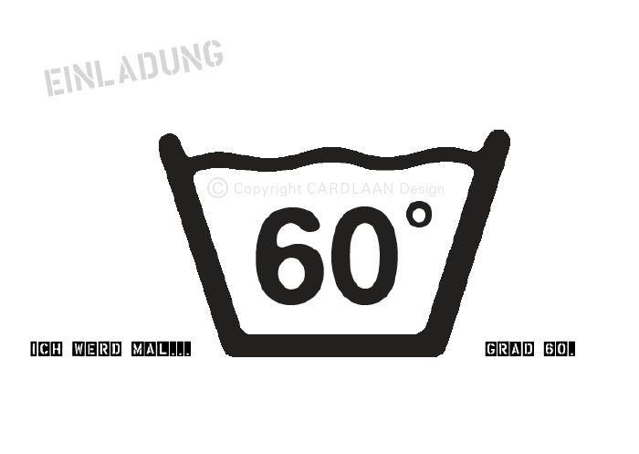 Einladung 60. Geburtstag (60Grad) A6 von CARDLAAN auf DaWanda.com