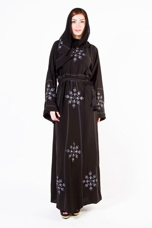 New Arabic Designer Abayas & Modern Gowns designs with Hiab Collection 2015-2016 for Women (3)