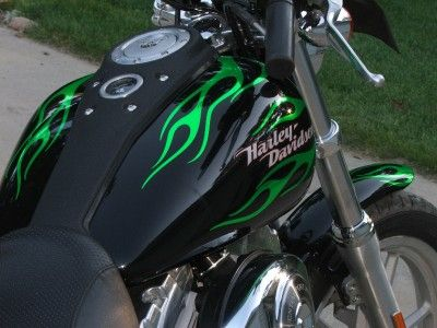 Flame Graphic Decals Fit Harley Dyna Super Glide FXD | eBay