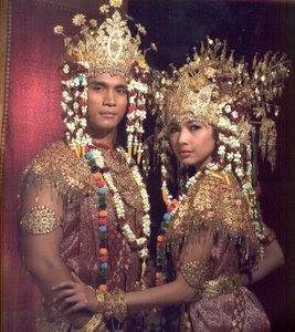 Palembang wedding costume (Indonesia)