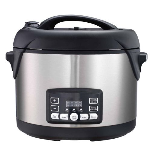 The Big Boss 1300-watt stainless steel oval pressure cooker makes it easy to prepare hearty, healthy meals for the entire family.