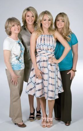 Carrie Underwood with her mom and sisters.